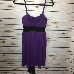 Sequin Hearts Purple Black Dress Roses